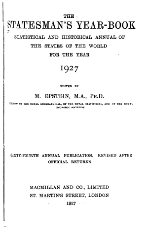 The Statesman's Year-book