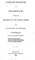 Familiar Dialogues on Shakerism PDF