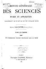 Revue g  n  rale des sciences pures et appliqu  es PDF