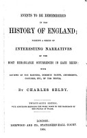 Events to be remembered in the history of England PDF