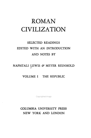 Roman Civilization  The Republic PDF