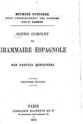 Cours complet de grammaire espagnole ...