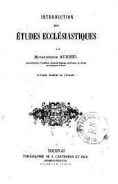 Introduction aux études ecclésiastiques