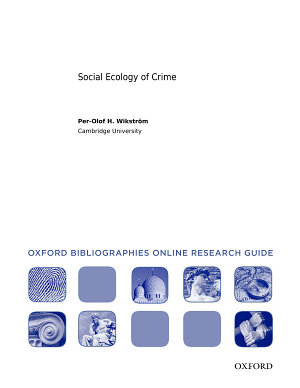Social Ecology of Crime  Oxford Bibliographies Online Research Guide PDF