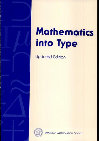 Mathematics Into Type PDF