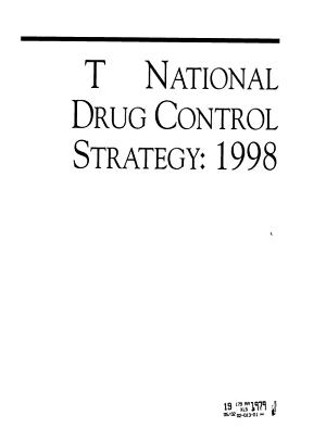 National drug control strategy PDF