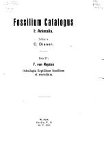 Fossilium Catalogus PDF