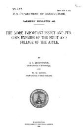 The More Important Insect and Fungous Enemies of the Fruit and Foliage of the Apple