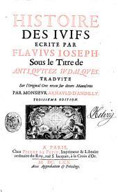 Histoire des Iuifs: Volume1