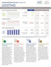 Lesotho: Agricultural R&D Indicators Factsheet