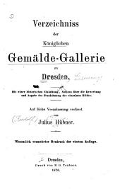 Verzeichnis der königl. Gemaelde-Gallerie