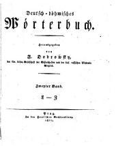 Deutsch-böhmisches Wörterbuch: Bd. L-Z