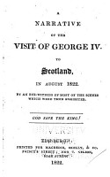Narrative of the Visit of George IV to Scotland PDF