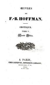 Oeuvres de F.-B. Hoffmann: Volume8