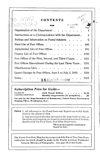 United States Official Postal Guide Book