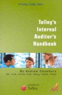Tolley s Internal Auditor s Handbook PDF