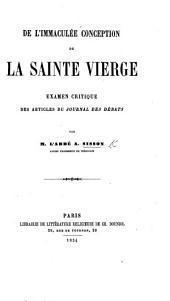 De l'Immaculée Conception de la Sainte Vierge. Examen critique des articles du Journal des Débats [written by E. R. Lefebvre-Laboulaye].