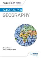 My Revision Notes  AQA GCSE  9   1  Geography PDF