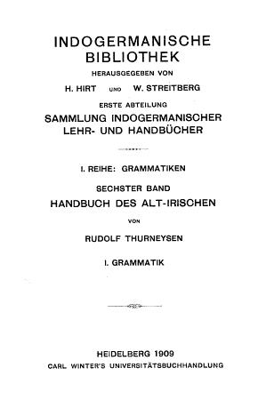Handbuch des Alt irischen PDF