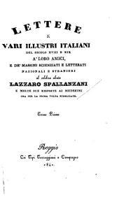 Lettere di vari illustri italiani del secolo XVIII e XIX a'loro amici: Lettere d'illustri Italiani del secolo XVIII e XIX a'loro amici