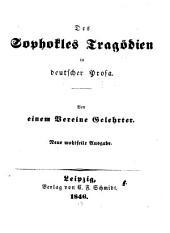 Tragödien in deutscher Prosa. Von einem Vereine Gelehrter. Neue Ausg