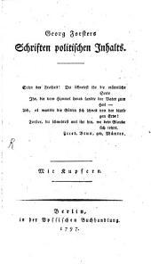 Georg Forsters Schriften politischen Inhalts