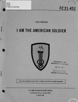 I Am the American Soldier PDF