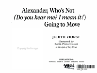 Alexander  Who s Not  Do You Hear Me  I Mean It   Going to Move