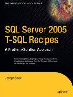 SQL Server 2005 T SQL Recipes PDF