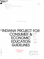 Indiana Project for Consumer   Economic Education Guidelines PDF