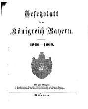 Gesetzblatt f  r das K  nigreich Bayern PDF