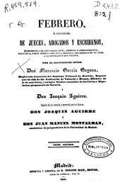 Febrero, o Libreria de jueces, abogados y escribanos, comprensiva de los códigos civil, criminal y administrativo, tanto en la parte teórica como en la práctica, con arreglo en un todo a la legislación hoy vigente: Volumen 5;Volúmenes 9-10