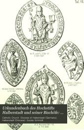 Urkundenbuch des Hochstifts Halberstadt und seiner Bischöfe: 1236-1303
