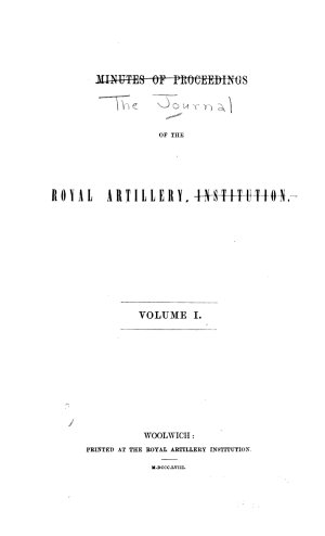 Journal of the Royal Artillery