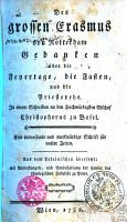 Des grossen Erasmus von Rotterdam Gedanken   ber die Feyertage  die Fasten  und die Priesterehe  In einem Schreiben an den Hochw  rdigsten Bischof Christophorus zu Basel PDF