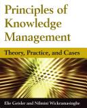 Principles of Knowledge Management PDF