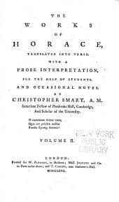 The Works of Horace: Translated Into Verse, Volume 2