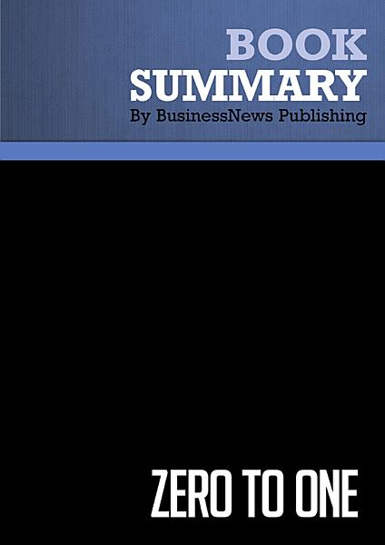 Download Summary  Zero to One Book