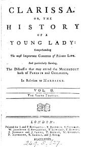 Clarissa, or, The history of a young lady, by the editor of Pamela. Richardson