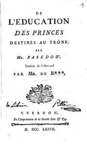 De l'éducation des princes destinés au trône