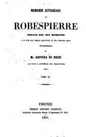 Memorie Autografe di Robespierre