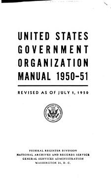 United States Government Organization Manual PDF