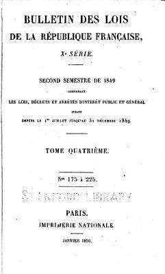 Bulletin des lois PDF
