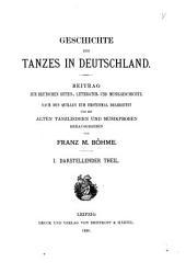 Geschichte des tanzes in Deutschland: Beitrag zur deutschen sitten, litteratur und musikgeschchte, Band 1