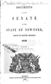 Documents of the Senate of the State of New York: Volume 1