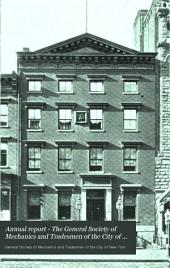 Annual Report - The General Society of Mechanics and Tradesmen of the City of New York