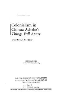 Colonialism in Chinua Achebe s Things Fall Apart PDF