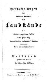 Verhandlungen der Zweiten Kammer der Landstände des Großherzogthums Hessen: 1851/54,[25]
