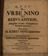 De urbe Nino et rebus Assyriis