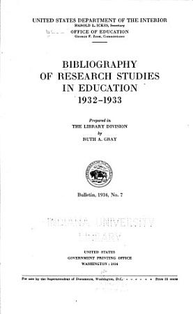 Bibliography of Research Studies in Education PDF